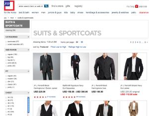 J C Penny : buy suits online