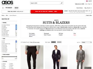 asos : buy suits online