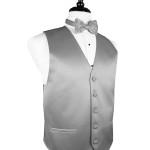 Silver tux suit vest