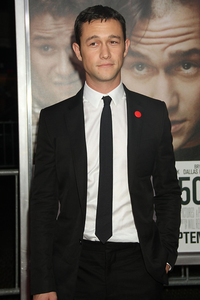 Joseph gordon-levitt in a black slim suit