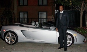 P-Diddy with his Lamborghini Gallardo