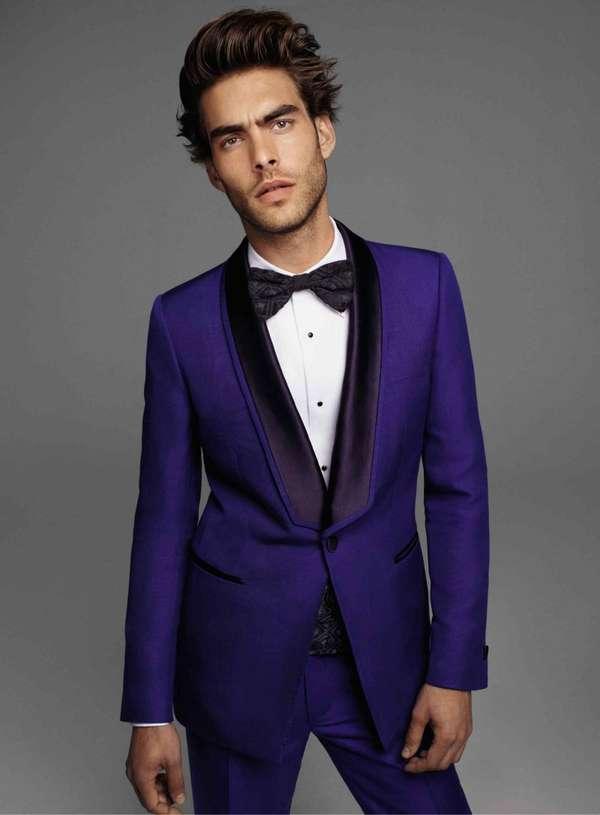 Dashing Eggplant toned Tuxedo: tuxedos and suits