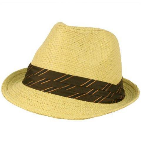 Fedora Trilby Pleat Band Hat