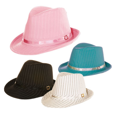Pinstripe Fedora Hat: Great as a prom hat
