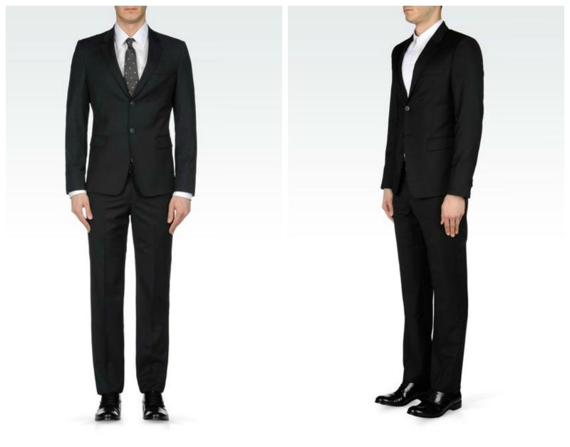 Slim-fit Pinstripe Armani Tux