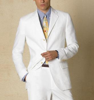 modern linen suit